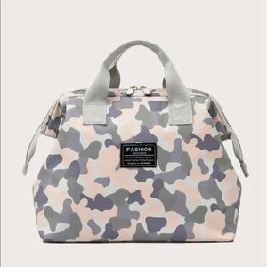 Camp Graphic Tote Bag NWT